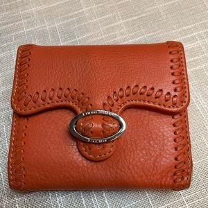 Etienna Aigner Vintage 100% leather orange wallet